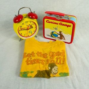 Other - Curious George Shirt, Clock, and Lunchbox